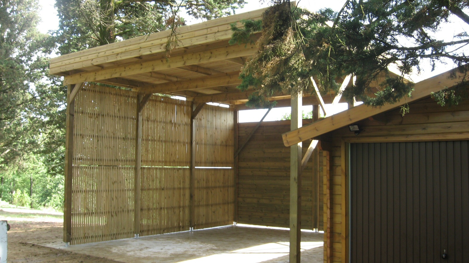 Pics Photos  Carport Carport En Bois Carport Bois Optima Duo 2