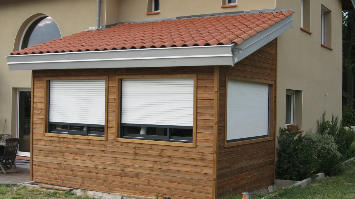 Garages bois simples ou doubles au sur mesure for Toiture extension maison