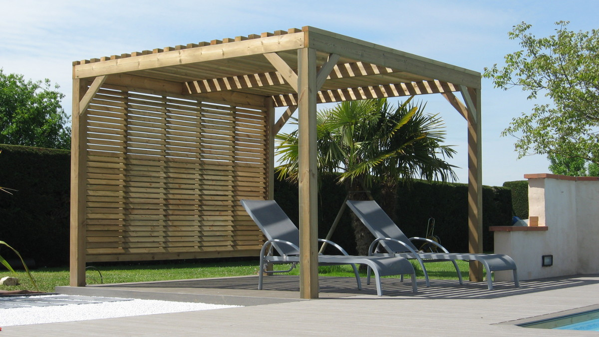 pergolas bois terrasses bois au sur mesure. Black Bedroom Furniture Sets. Home Design Ideas